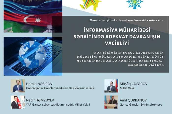 """Onlayn müzakirə: """"İnformasiya müharibəsi şəraitində adekvat davranışın vacibliyi"""""""