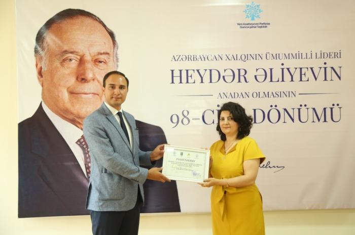 Ümummilli Lider Heydər Əliyevin xatirəsinə həsr olunan yarışların qalibləri mükafatlandırılıb