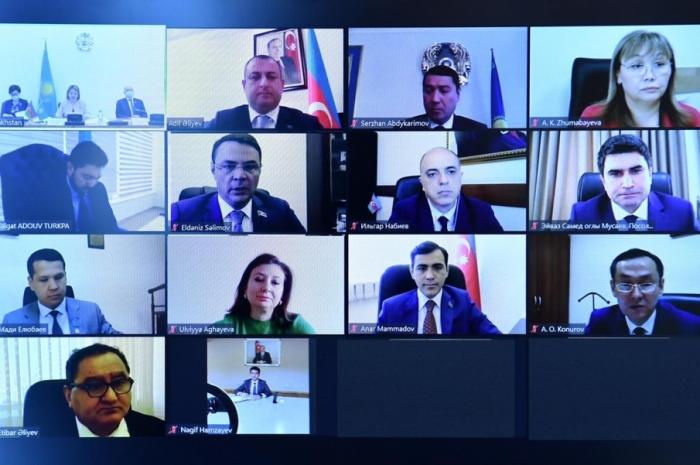 Azərbaycan və Qazaxıstan parlamentlərarası dostluq qruplarının onlayn görüşü keçirilib